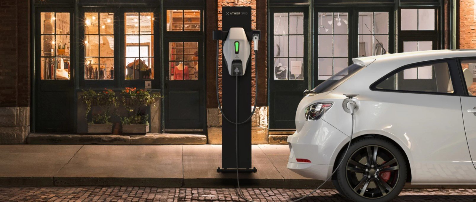 EV charging at an Ather Grid charging point
