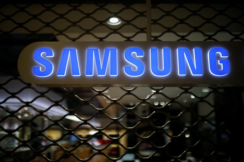 The logo of Samsung Electronics