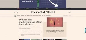 Japan-Owned Financial Times Sinks to £34.5m Loss: Telegraph